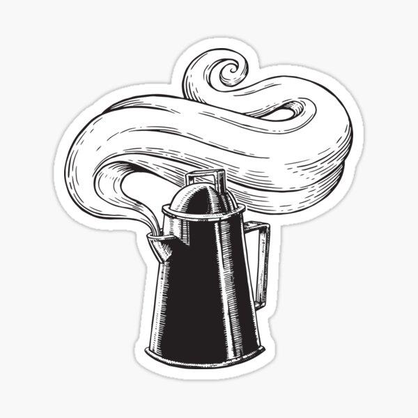 Rustic Coffee Pot Sticker