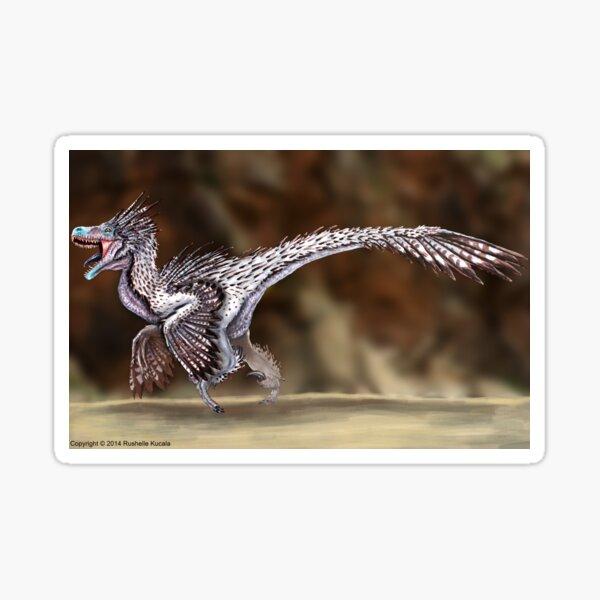 Velociraptor Reconstruction Sticker