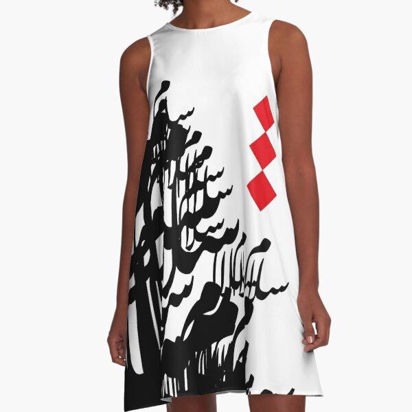 Arabic Calligraphy Peace  A-Line Dress