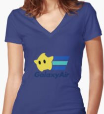 Galaxy Air Women's Fitted V-Neck T-Shirt