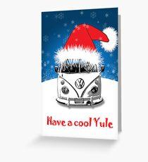 VW Camper Cool Yule Card Greeting Card