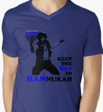 Keep the Han in Hannukah Men's V-Neck T-Shirt