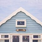 Beach hut in blue by Zoe Power