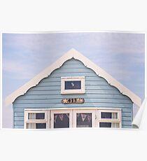 Beach hut in blue Poster
