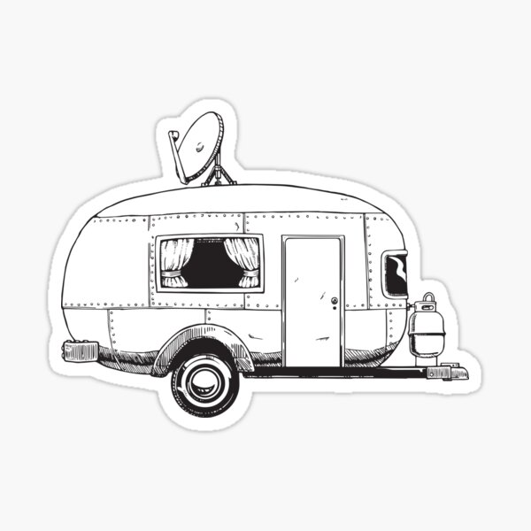 Little Camper Sticker
