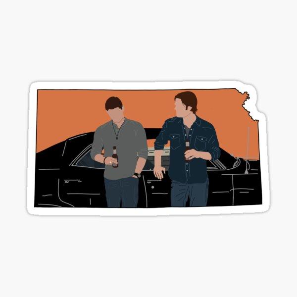 Supernatural (Kansas outline) Sticker