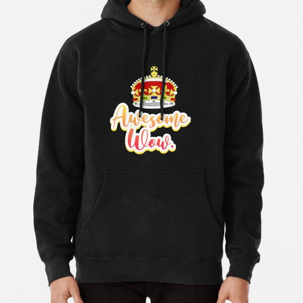 Hamilton king george awesome wow quote sticker Pullover Hoodie