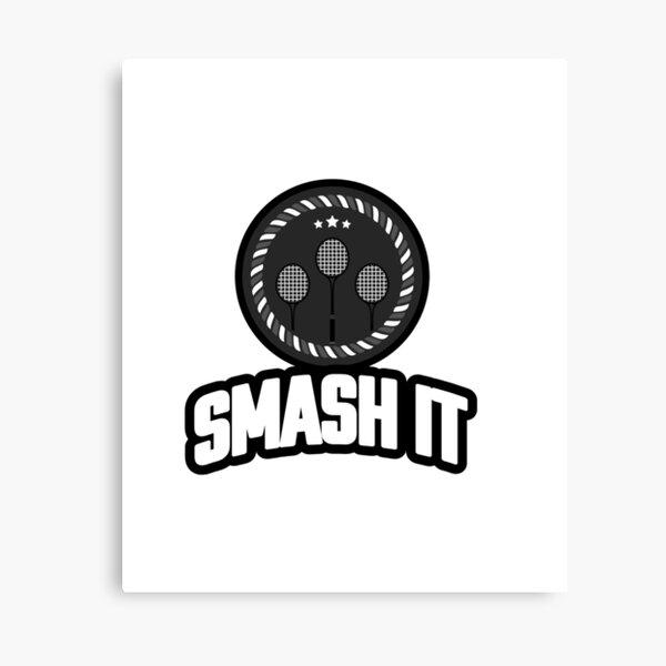 Badminton Smash It smart professional logo  Canvas Print