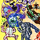 Psychedelic Super Battle by JohnnyGolden