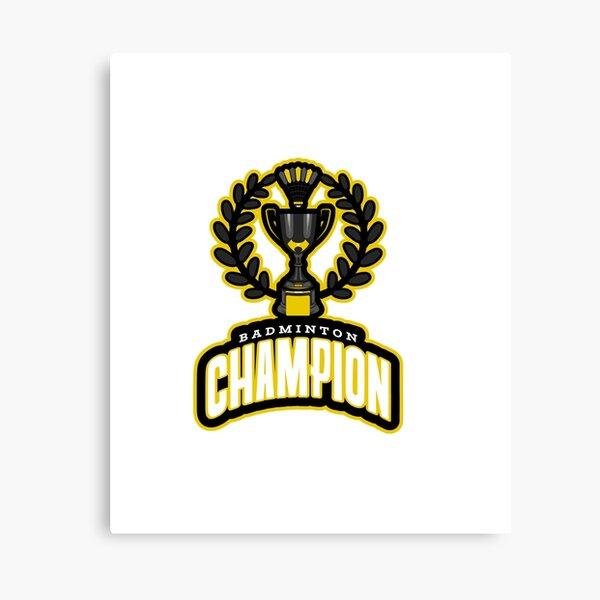 Badminton Champion smart professional logo  Canvas Print