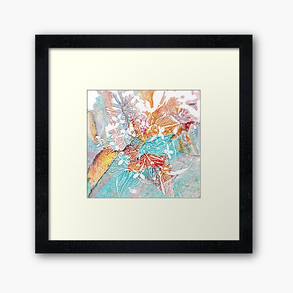 pastel flower imprint Framed Art Print