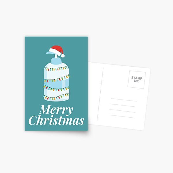 Merry Christmas Hand Sanitizer 2020 Postcard