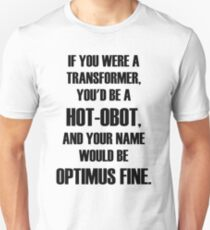 Pick Up Line T-Shirt: HOT-OBOT Slim Fit T-Shirt