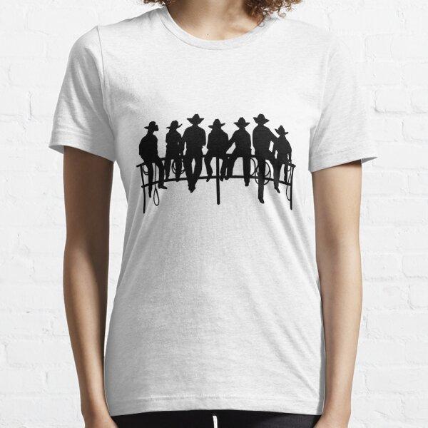 Cowboys on wood fence Essential T-Shirt