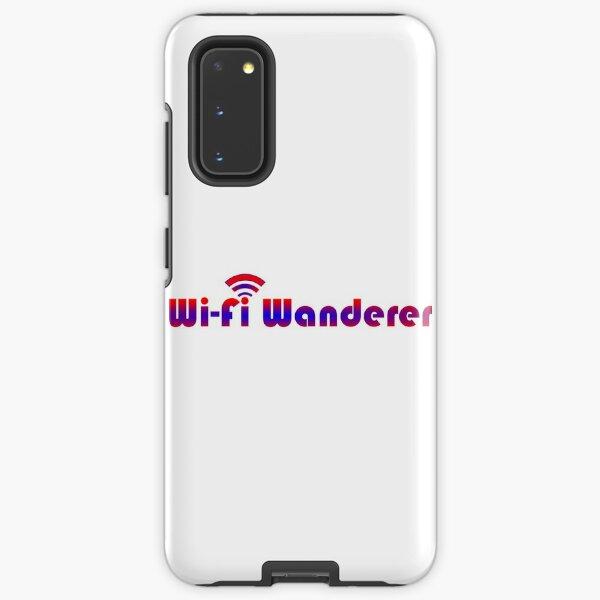 Wifi Wanderer (Red-Blue) Samsung Galaxy Tough Case