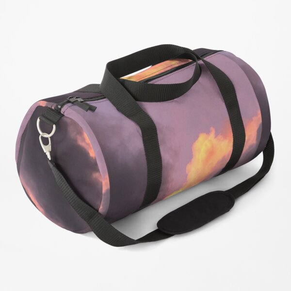 The clouds, Natures Beauty, Clouds, Orange, Gray  Duffle Bag