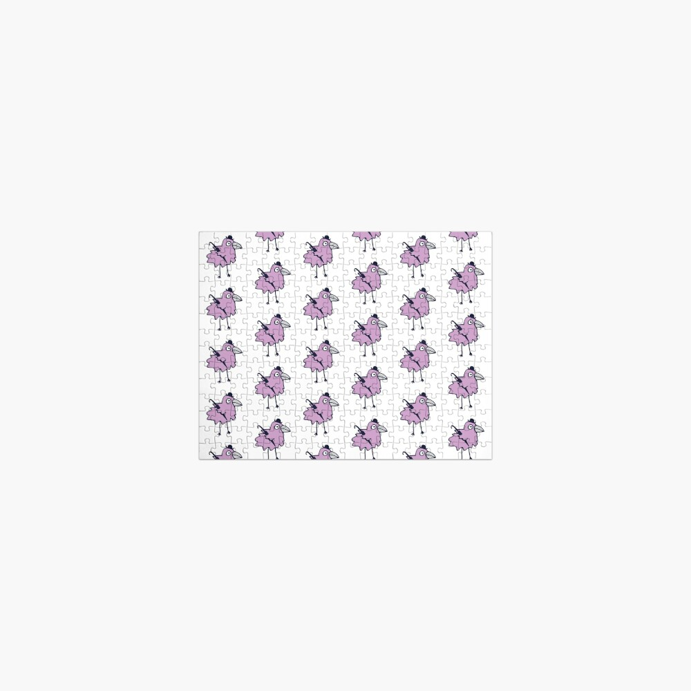 Business Bird - Lilac on Mint green - cute bird pattern by Cecca Designs Jigsaw Puzzle