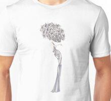 Fashion Illustration 'Blue Willow Dress' Fashion Art Unisex T-Shirt