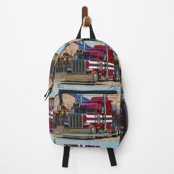 Peterbilt with blue lights Backpack