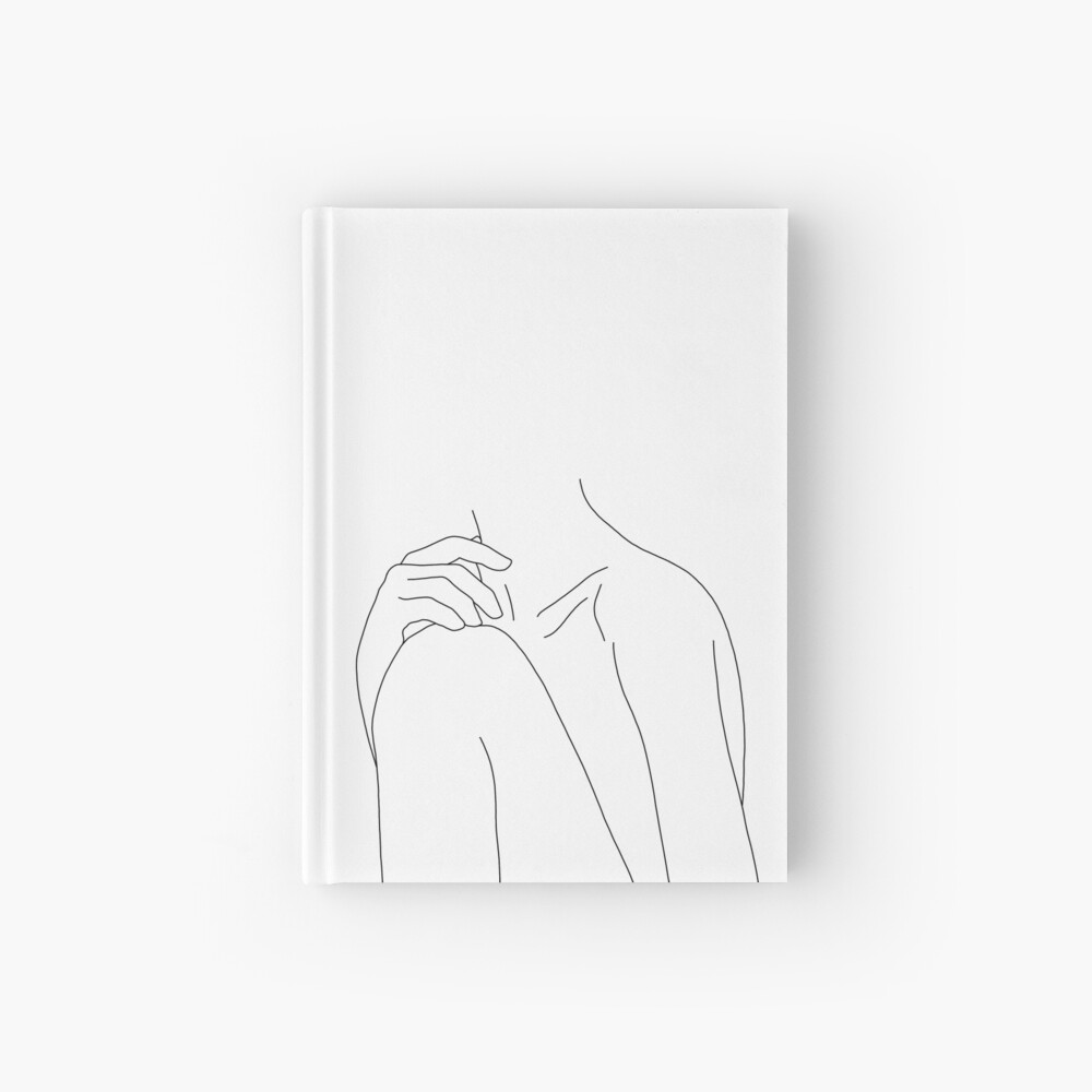 Figure line drawing illustration - Cathy Hardcover Journal