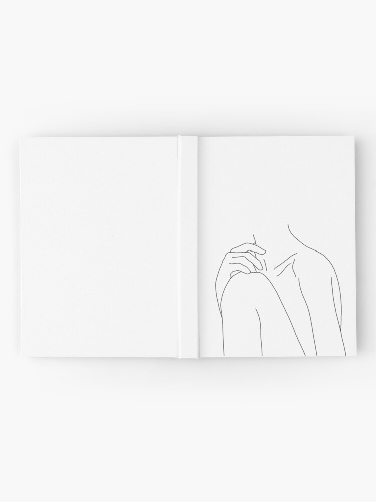 Alternate view of Figure line drawing illustration - Cathy Hardcover Journal