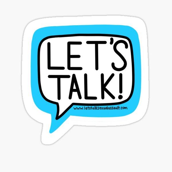 Let's Talk! Sticker