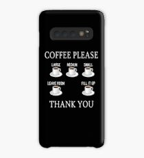 Coffee Please - Check Requisite Items on Form Case/Skin for Samsung Galaxy