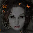 Fantasy Eyes and Butterflies by Concetta Kilmer