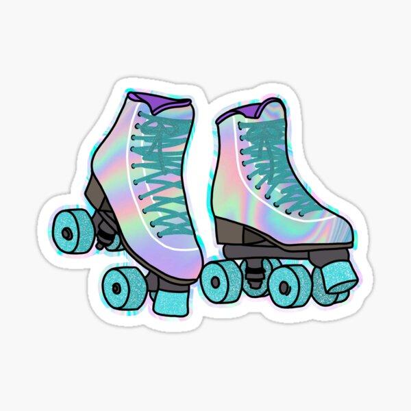 Holographic Roller Skates  Sticker