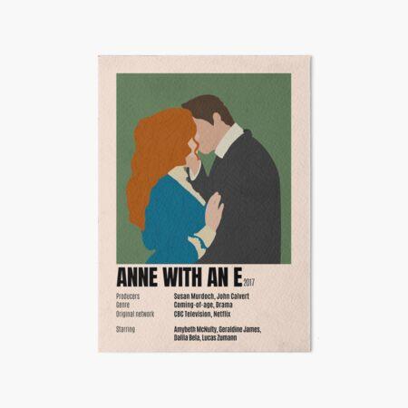 Anne avec une affiche minimaliste Impression rigide