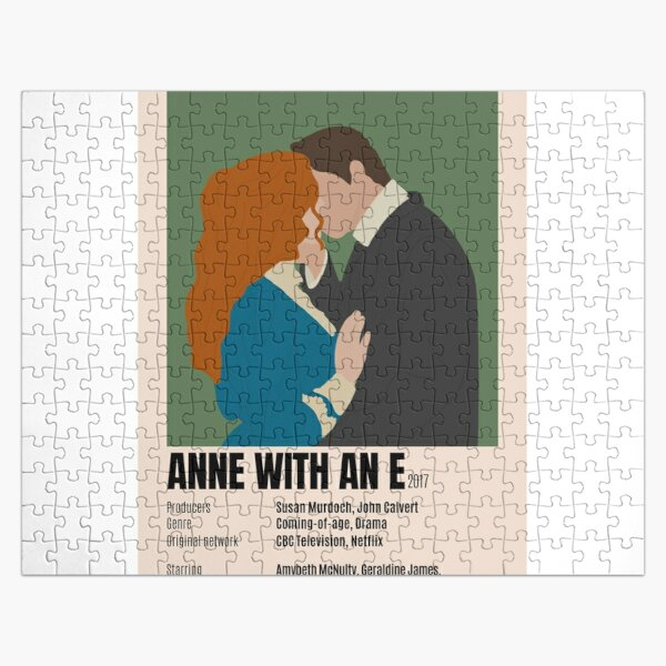 Anne con un cartel minimalista e Puzzle
