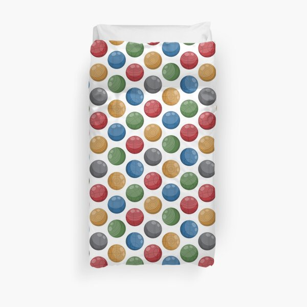 Bocce Ball (Lawn bowling) | Traditional Duvet Cover