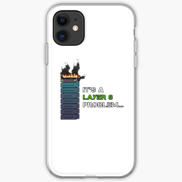 IT'S A LAYER 8 PROBLEM... - Burning OSI Layer 8 iPhone Soft Case