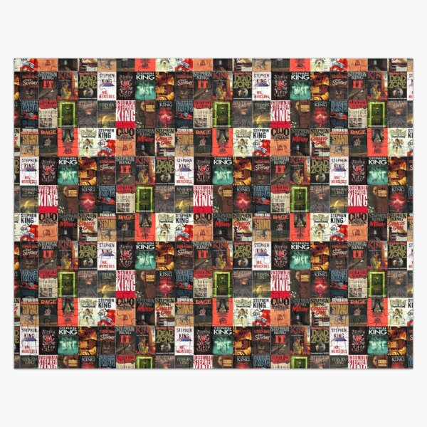 Stephen King Book Cover Collage Jigsaw Puzzle