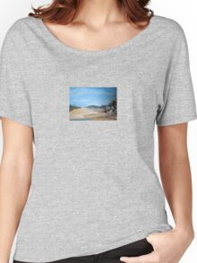 Sandy Beach and Rock Pool Women's Relaxed Fit T-Shirt