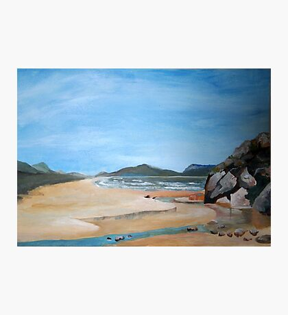 Sandy Beach and Rock Pool Photographic Print