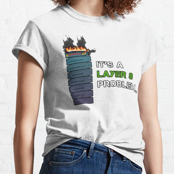 IT'S A LAYER 8 PROBLEM... - Burning OSI Layer 8 Classic T-Shirt