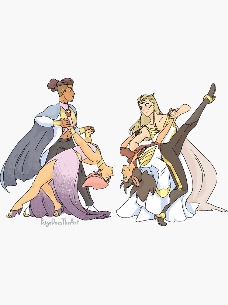 Glimmer, Bow, Adora, Catra Dance by PaigeDoesTheArt