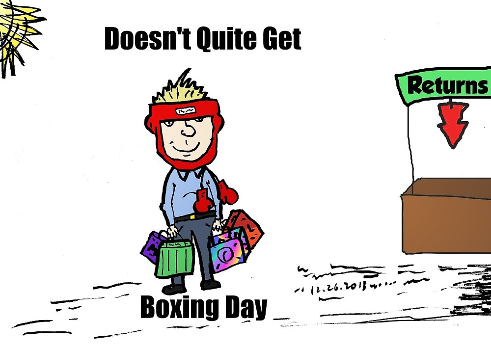 Misunderstanding Boxing Day cartoon by Binary-Options