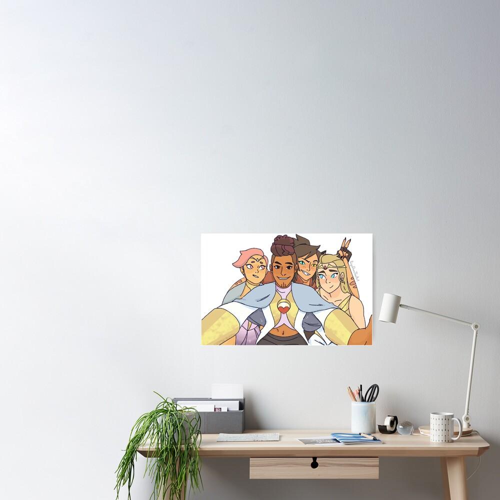 Best Friend Squad Shera Adora, Catra, Glimmer, Bow Poster