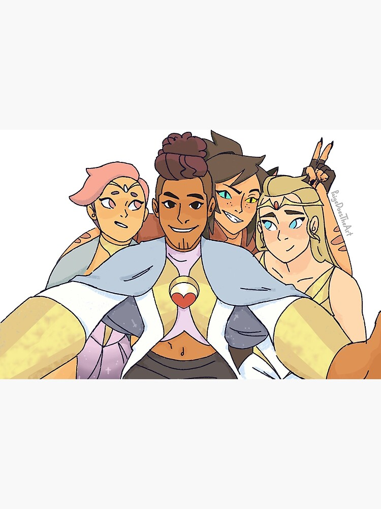 Best Friend Squad Shera Adora, Catra, Glimmer, Bow by PaigeDoesTheArt