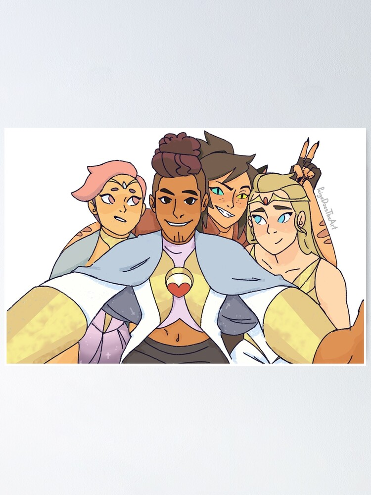 Alternate view of Best Friend Squad Shera Adora, Catra, Glimmer, Bow Poster