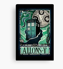 Dr. Who Nouveau Canvas Print