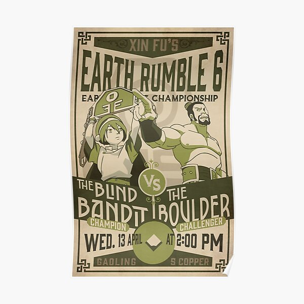 Vintage Earth Rumble 6  Poster