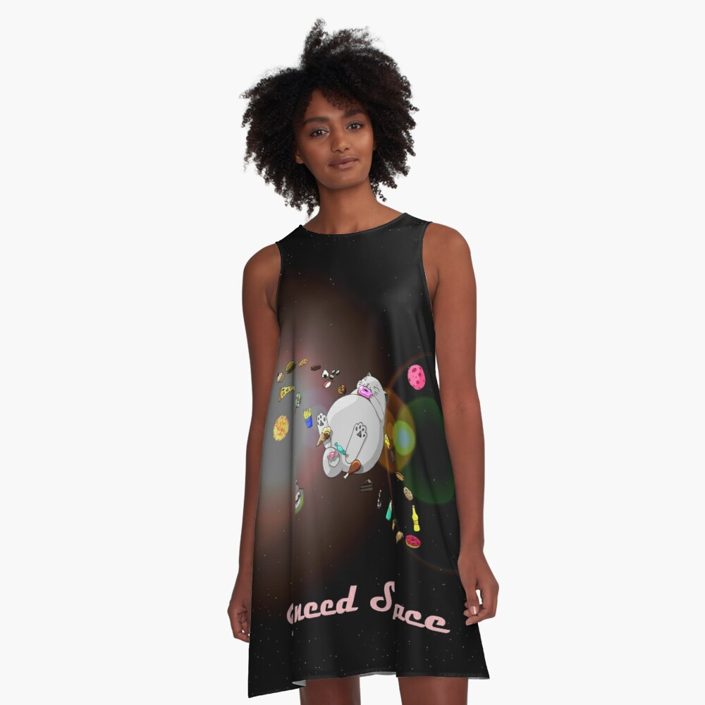 Caturn - I need Space (Zappenduster Version) A-Linien Kleid