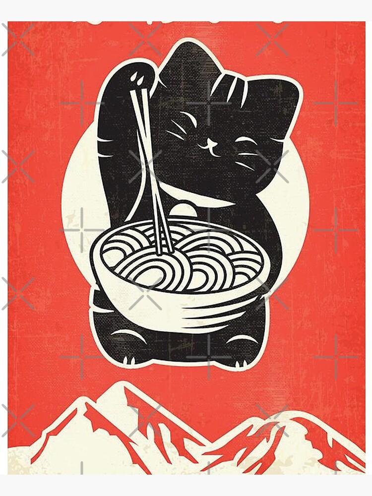 RAMEN KAWAII CAT by PinchesDibujos