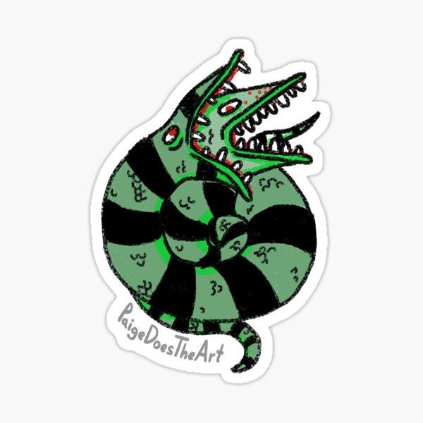 Beetlejuice Snake Sticker
