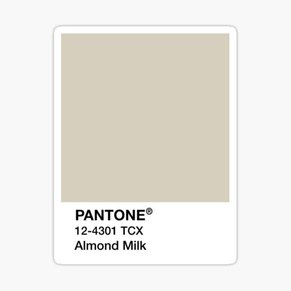 PANTONE Almond Milk, Tan/Beige Sticker
