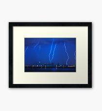 Lightning Over Miami Framed Print