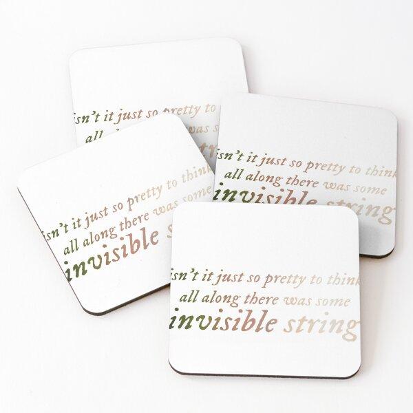 invisible string lyrics Coasters (Set of 4)